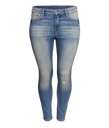 + Skinny Ankle Jeans - style: skinny leg; length: standard; pattern: plain; pocket detail: traditional 5 pocket; waist: mid/regular rise; predominant colour: denim; occasions: casual, evening, creative work; fibres: cotton - stretch; jeans detail: whiskering, shading down centre of thigh, washed/faded; texture group: denim; pattern type: fabric; season: s/s 2014