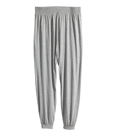 + Harem Pants - length: standard; pattern: plain; style: harem/slouch; waist detail: elasticated waist; waist: mid/regular rise; predominant colour: light grey; occasions: casual; fibres: viscose/rayon - 100%; fit: baggy; pattern type: fabric; texture group: jersey - stretchy/drapey; season: s/s 2014