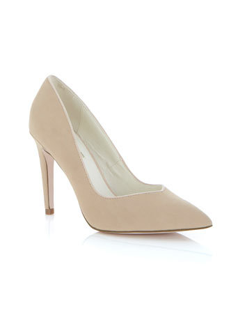 Gwyneth Point Heel - predominant colour: stone; occasions: casual, evening, work; material: faux leather; heel height: high; heel: stiletto; toe: pointed toe; style: courts; finish: plain; pattern: plain; season: s/s 2014