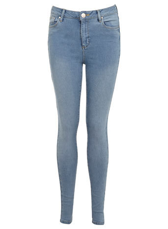 Light High Waist Jean - style: skinny leg; length: standard; pattern: plain; waist: high rise; pocket detail: traditional 5 pocket; predominant colour: denim; occasions: casual, creative work; fibres: cotton - stretch; texture group: denim; pattern type: fabric; season: s/s 2014