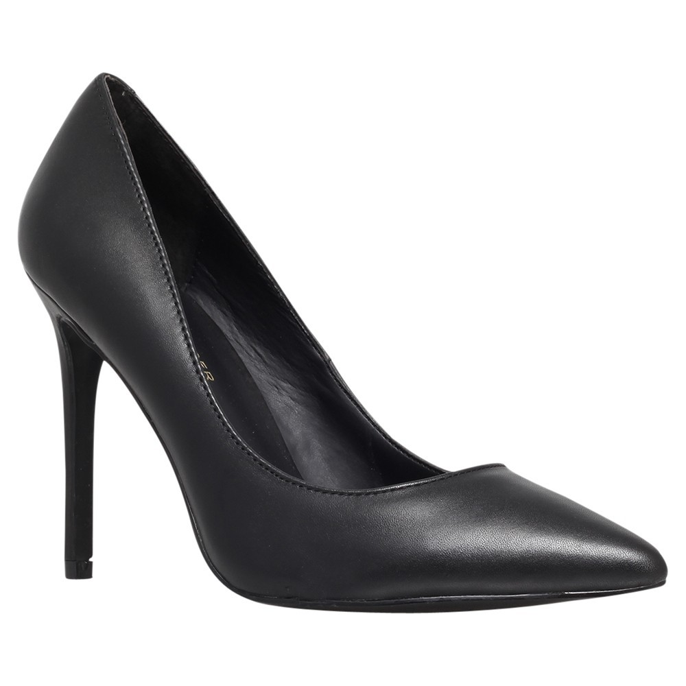 Bailey Pointed Court Shoes - predominant colour: black; occasions: work; material: leather; heel: stiletto; toe: pointed toe; style: courts; finish: plain; pattern: plain; heel height: very high; season: s/s 2014