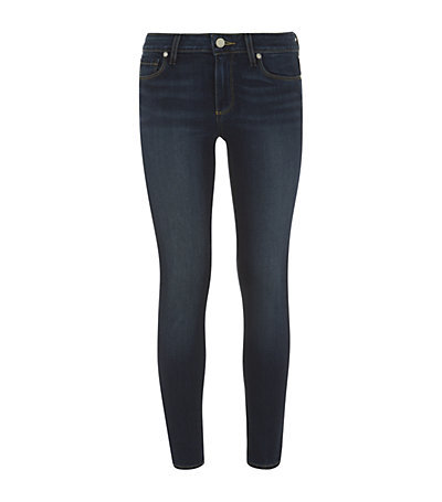 Verdugo Ankle Skinny Jeans - style: skinny leg; pattern: plain; pocket detail: traditional 5 pocket; waist: mid/regular rise; predominant colour: navy; occasions: casual, evening, creative work; length: ankle length; fibres: cotton - stretch; jeans detail: whiskering, dark wash; texture group: denim; pattern type: fabric; season: s/s 2014