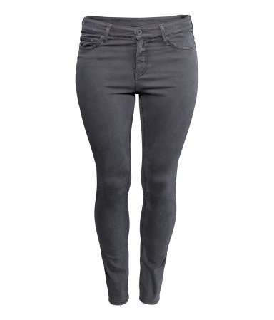 + Slim Regular Jeans - style: skinny leg; length: standard; pattern: plain; pocket detail: traditional 5 pocket; waist: mid/regular rise; predominant colour: mid grey; occasions: casual, evening, creative work; fibres: cotton - stretch; texture group: denim; season: s/s 2014