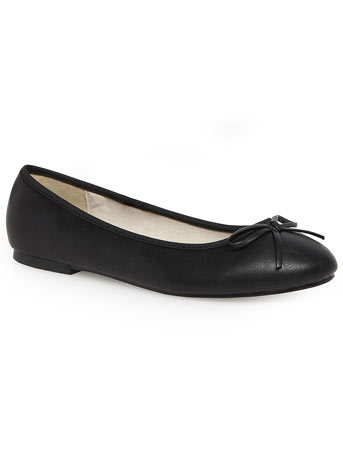 Paige Black Basic Ballerina - predominant colour: black; occasions: casual, work, creative work; material: faux leather; heel height: flat; toe: round toe; style: ballerinas / pumps; finish: plain; pattern: plain; season: s/s 2014