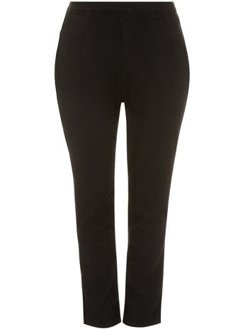 Black Pear Fit Jeggings - length: standard; pattern: plain; style: jeggings; waist: mid/regular rise; predominant colour: black; occasions: casual, creative work; fibres: cotton - stretch; texture group: denim; pattern type: fabric; season: s/s 2014; brand specific: pear fit