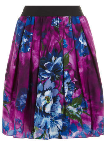 Scarlett & Jo Multi Floral Print Prom Skirt - style: full/prom skirt; fit: loose/voluminous; waist: high rise; occasions: evening, occasion, creative work; length: just above the knee; waist detail: narrow waistband; predominant colour: multicoloured; pattern type: fabric; pattern: florals; texture group: woven light midweight; season: s/s 2014; pattern size: big & busy (bottom); multicoloured: multicoloured