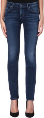 Arielle Slim Fit Mid Rise Jeans, Women's, Hewett - style: skinny leg; length: standard; pattern: plain; pocket detail: traditional 5 pocket; waist: mid/regular rise; predominant colour: navy; occasions: casual, evening; fibres: cotton - stretch; jeans detail: whiskering, shading down centre of thigh; texture group: denim; pattern type: fabric; season: s/s 2014
