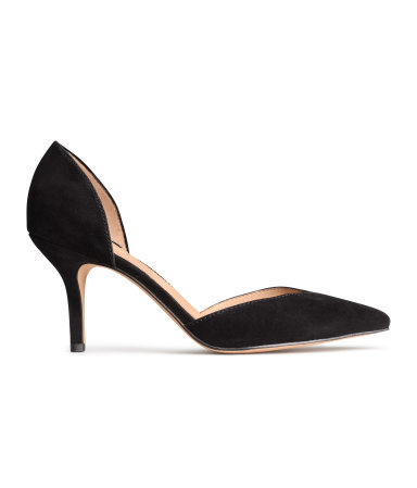 Suede Court Shoes - predominant colour: black; occasions: work, occasion, creative work; material: suede; heel height: high; heel: stiletto; toe: pointed toe; style: courts; finish: plain; pattern: plain; season: s/s 2014