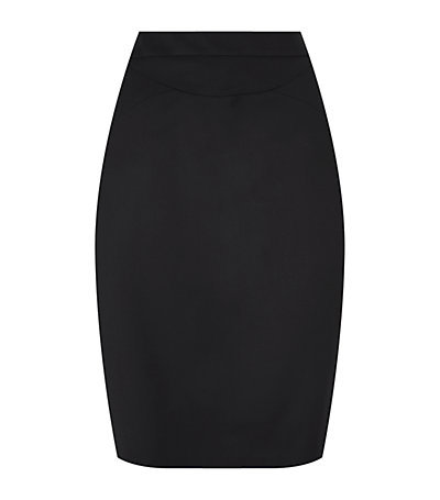 Sella Pencil Skirt - pattern: plain; style: pencil; fit: tight; waist: high rise; predominant colour: black; occasions: evening, work, creative work; length: just above the knee; fibres: viscose/rayon - stretch; pattern type: fabric; texture group: other - light to midweight; season: s/s 2014