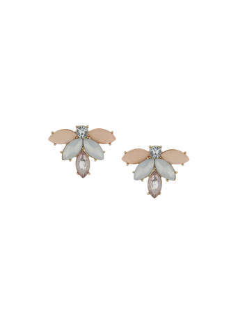 Pastel Multi Naivete Stud Earrings - occasions: evening, occasion; predominant colour: multicoloured; style: stud; length: short; size: small/fine; material: chain/metal; fastening: pierced; finish: plain; embellishment: jewels/stone; season: s/s 2014; multicoloured: multicoloured