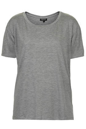 Viscose Scoop Tee - neckline: round neck; pattern: plain; style: t-shirt; predominant colour: mid grey; occasions: casual, creative work; length: standard; fibres: viscose/rayon - 100%; fit: body skimming; sleeve length: short sleeve; sleeve style: standard; pattern type: fabric; texture group: jersey - stretchy/drapey; season: a/w 2014