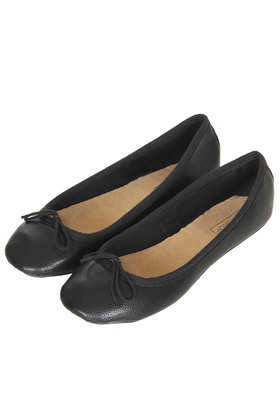 Vibrant Tumbled Ballerinas - predominant colour: black; occasions: casual, work, creative work; material: faux leather; heel height: flat; toe: square toe; style: ballerinas / pumps; finish: plain; pattern: plain; season: a/w 2014