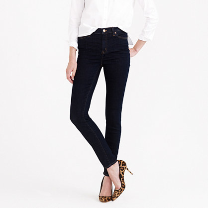 Petite Lookout High Rise Jean In Resin Wash - style: skinny leg; pattern: plain; waist: high rise; pocket detail: traditional 5 pocket; predominant colour: navy; occasions: casual; length: ankle length; fibres: cotton - stretch; jeans detail: dark wash; texture group: denim; pattern type: fabric; season: a/w 2014