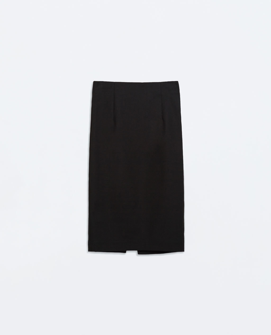 Midi Tube Skirt - pattern: plain; fit: tight; hip detail: draws attention to hips; waist: mid/regular rise; predominant colour: black; occasions: casual, creative work; length: on the knee; fibres: cotton - stretch; style: tube; texture group: jersey - clingy; pattern type: fabric; season: a/w 2014