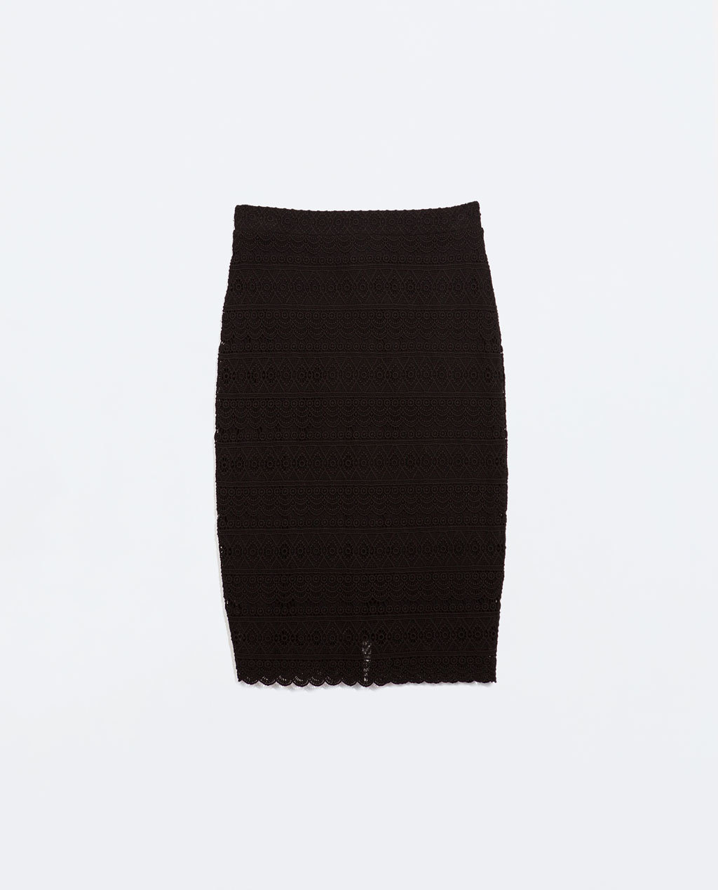 Crochet Tube Skirt - length: below the knee; pattern: plain; fit: tight; waist: mid/regular rise; predominant colour: black; occasions: casual, evening, creative work; fibres: cotton - 100%; style: tube; texture group: knits/crochet; pattern type: knitted - other; season: a/w 2014