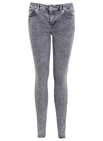 Grey Acid Authentic Jean - style: skinny leg; length: standard; pattern: plain; pocket detail: traditional 5 pocket; waist: mid/regular rise; predominant colour: charcoal; occasions: casual; fibres: cotton - stretch; texture group: denim; pattern type: fabric; season: a/w 2014