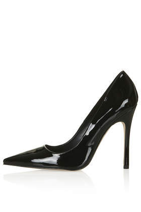 Gallop Patent Court Shoes - predominant colour: black; occasions: evening, work, occasion; material: faux leather; heel height: high; heel: stiletto; toe: pointed toe; style: courts; finish: patent; pattern: plain; season: a/w 2014