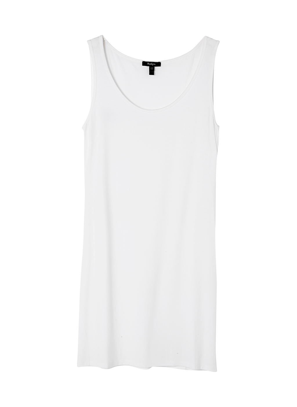 Womenswear Long Line Tank - sleeve style: standard vest straps/shoulder straps; pattern: plain; length: below the bottom; style: vest top; predominant colour: white; occasions: casual; neckline: scoop; fibres: viscose/rayon - stretch; fit: body skimming; sleeve length: sleeveless; pattern type: fabric; texture group: jersey - stretchy/drapey; season: a/w 2014