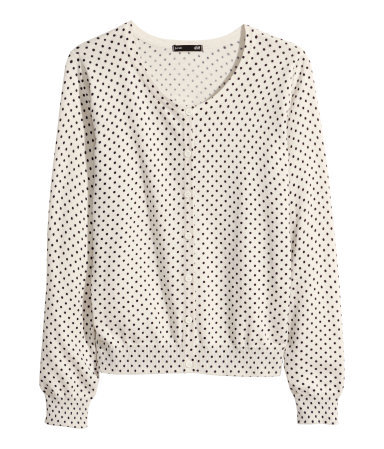 Fine Knit Cardigan - neckline: round neck; pattern: polka dot; predominant colour: ivory/cream; secondary colour: black; occasions: casual, creative work; length: standard; style: standard; fibres: cotton - 100%; fit: standard fit; sleeve length: long sleeve; sleeve style: standard; texture group: knits/crochet; pattern type: knitted - fine stitch; pattern size: standard; season: a/w 2014