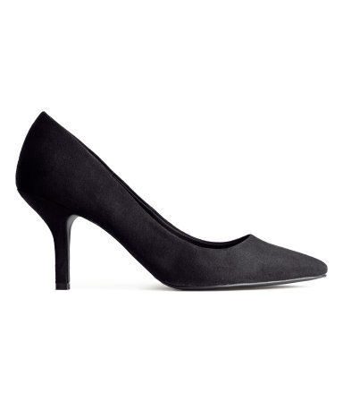 Court Shoes - predominant colour: black; occasions: evening, work, creative work; heel height: mid; heel: standard; toe: pointed toe; style: courts; finish: plain; pattern: plain; material: faux suede; season: a/w 2014