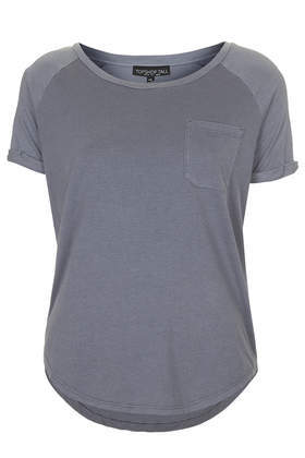 Tall Washed Tee - neckline: round neck; pattern: plain; style: t-shirt; predominant colour: mid grey; secondary colour: light grey; occasions: casual; length: standard; fibres: cotton - mix; fit: body skimming; sleeve length: short sleeve; sleeve style: standard; pattern type: fabric; texture group: jersey - stretchy/drapey; season: a/w 2014