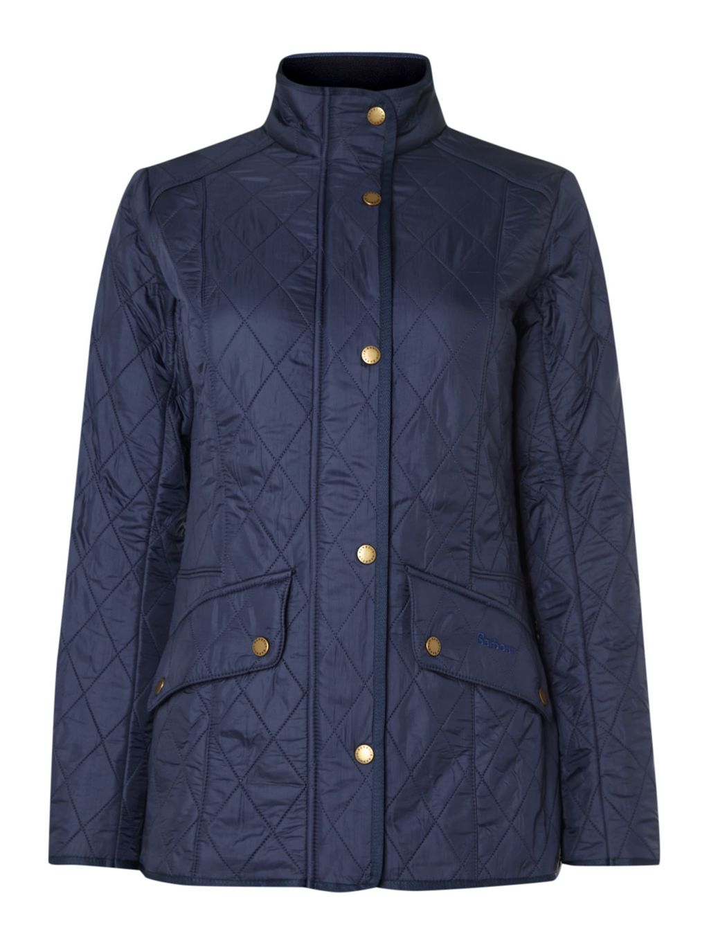 Cavalary Polarquilt Jacket, Blue - pattern: plain; length: standard; style: quilted; collar: high neck; predominant colour: navy; occasions: casual; fit: straight cut (boxy); fibres: polyester/polyamide - 100%; hip detail: subtle/flattering hip detail; sleeve length: long sleeve; sleeve style: standard; texture group: technical outdoor fabrics; collar break: high; pattern type: fabric; season: a/w 2014