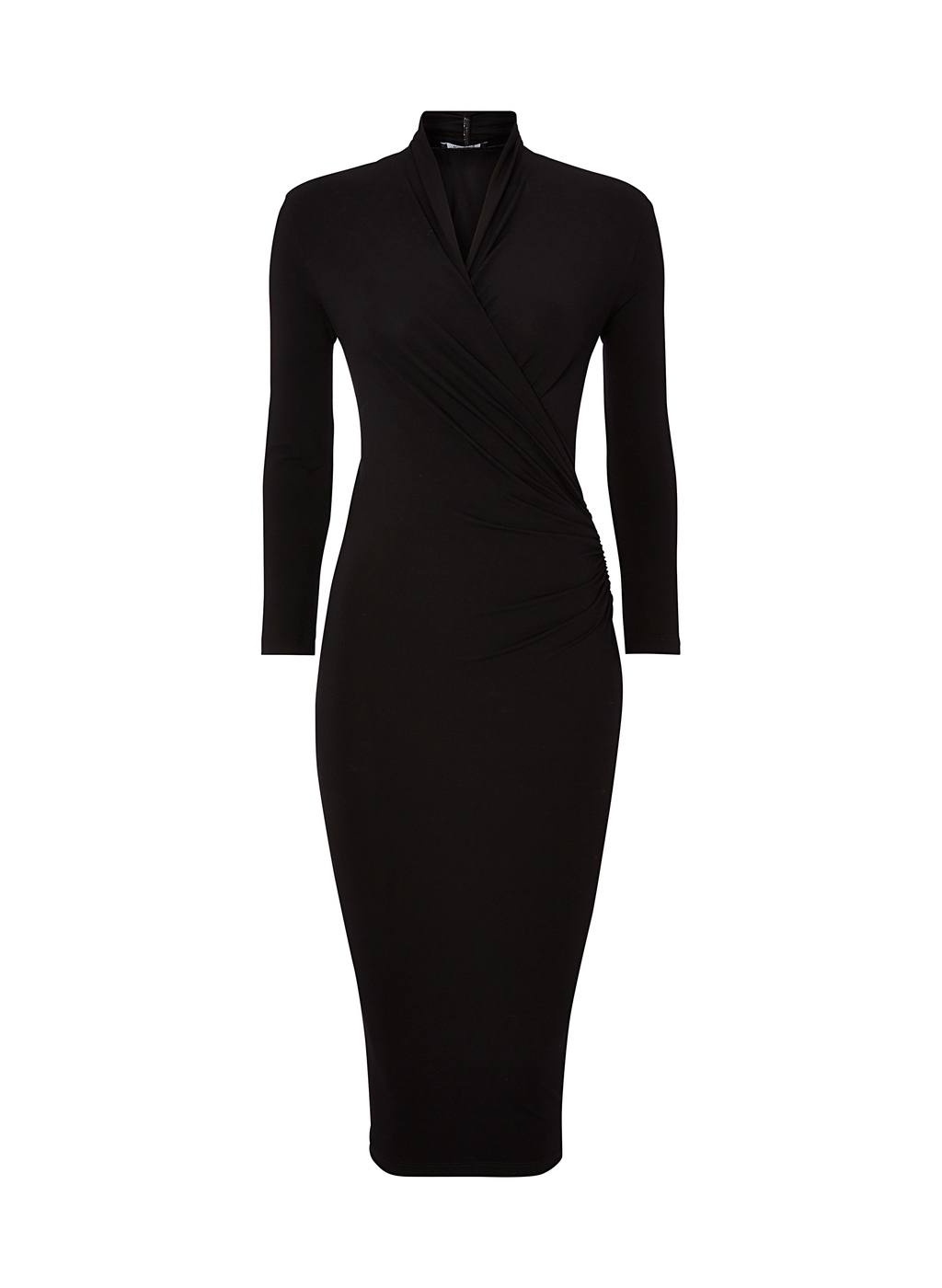 Womenswear Darton Dress - length: below the knee; fit: tight; pattern: plain; neckline: high neck; style: bodycon; predominant colour: black; occasions: evening, occasion; fibres: polyester/polyamide - stretch; sleeve length: long sleeve; sleeve style: standard; texture group: jersey - clingy; pattern type: fabric; season: a/w 2014