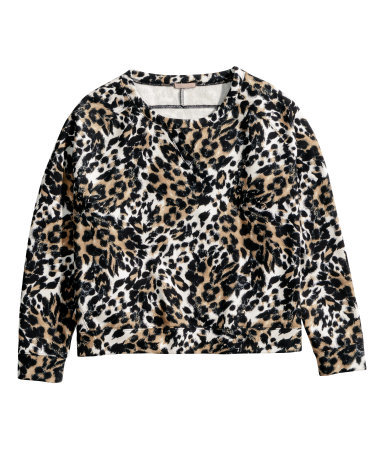 + Sweatshirt - style: sweat top; occasions: casual, creative work; length: standard; fibres: cotton - mix; fit: straight cut; neckline: crew; predominant colour: multicoloured; sleeve length: long sleeve; sleeve style: standard; pattern type: fabric; pattern size: standard; pattern: animal print; texture group: jersey - stretchy/drapey; season: a/w 2014; multicoloured: multicoloured