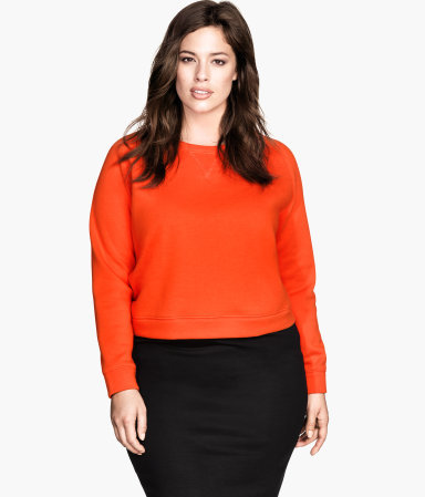 + Sweatshirt - pattern: plain; length: cropped; style: sweat top; predominant colour: bright orange; occasions: casual, creative work; fibres: cotton - mix; fit: straight cut; neckline: crew; sleeve length: long sleeve; sleeve style: standard; texture group: jersey - stretchy/drapey; trends: zesty shades; season: a/w 2014