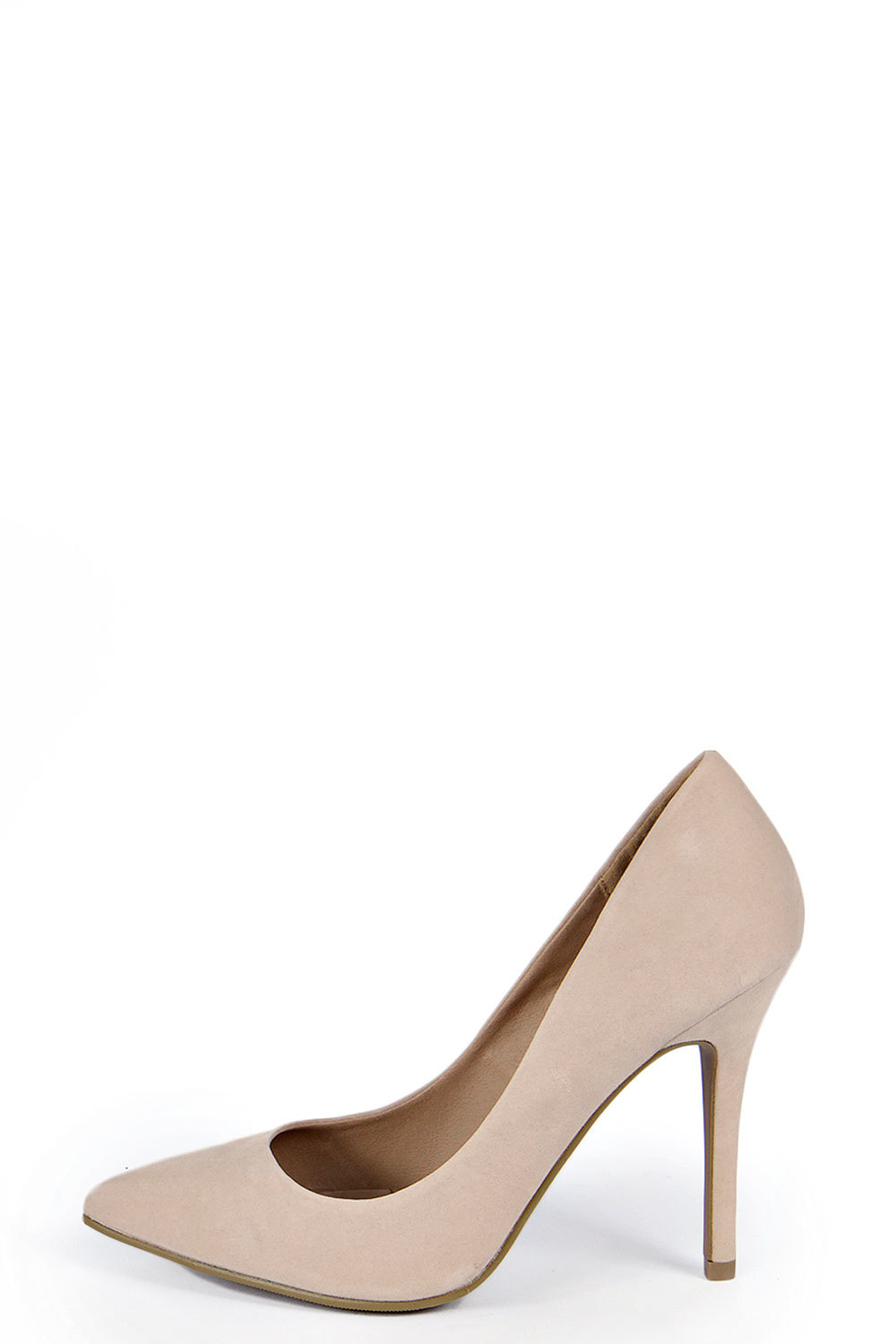 Pointed Court Heels Black - predominant colour: nude; occasions: evening, work, occasion, creative work; material: faux leather; heel height: high; heel: stiletto; toe: pointed toe; style: courts; finish: plain; pattern: plain; season: a/w 2014