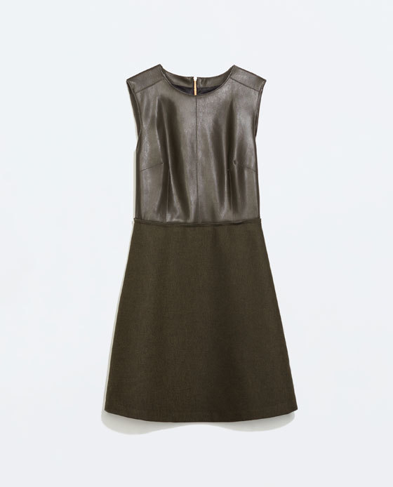Wool Dress - style: shift; length: mini; neckline: round neck; fit: tailored/fitted; pattern: plain; sleeve style: sleeveless; predominant colour: black; occasions: evening, occasion, creative work; fibres: polyester/polyamide - mix; sleeve length: sleeveless; pattern type: fabric; texture group: woven light midweight; season: a/w 2014