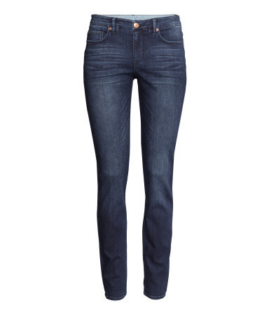 Jeans Slim Fit - length: standard; pattern: plain; pocket detail: traditional 5 pocket; style: slim leg; waist: mid/regular rise; predominant colour: denim; occasions: casual, creative work; fibres: cotton - stretch; jeans detail: whiskering, dark wash; texture group: denim; pattern type: fabric; season: a/w 2014