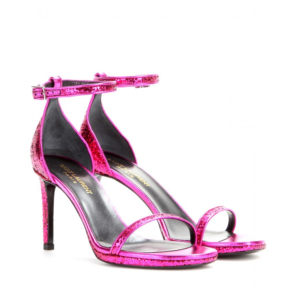 Jane Ankle Strap Sandals - predominant colour: hot pink; occasions: evening, occasion; material: leather; heel height: high; ankle detail: ankle strap; heel: stiletto; toe: open toe/peeptoe; style: strappy; finish: fluorescent; pattern: plain; season: a/w 2014