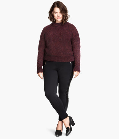 + Treggings - length: standard; pattern: plain; style: leggings; waist: mid/regular rise; predominant colour: black; occasions: casual, evening, creative work; fibres: polyester/polyamide - stretch; texture group: jersey - clingy; fit: skinny/tight leg; season: a/w 2014