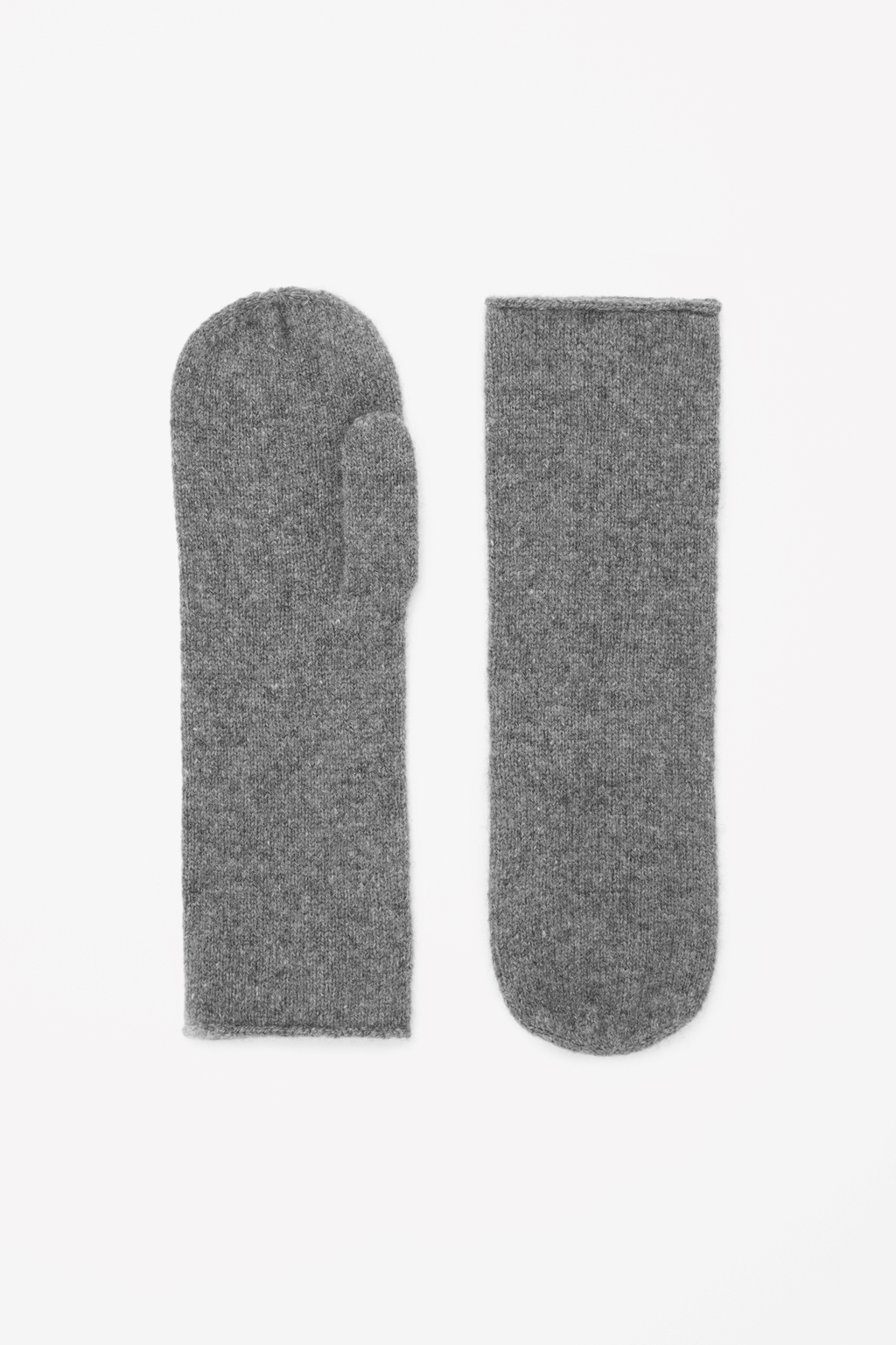 Cashmere Mittens - predominant colour: charcoal; occasions: casual, creative work; style: mittens; length: wrist; material: knits; pattern: plain; season: a/w 2014