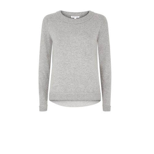 Sophia Jumper - pattern: plain; style: standard; predominant colour: light grey; occasions: casual; length: standard; fit: standard fit; neckline: crew; sleeve length: long sleeve; sleeve style: standard; texture group: knits/crochet; pattern type: fabric; season: a/w 2014