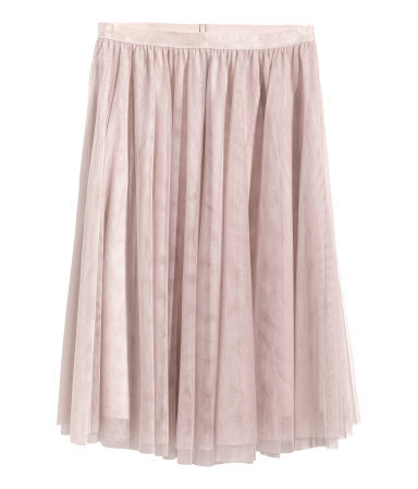 + Tulle Skirt - length: below the knee; pattern: plain; style: full/prom skirt; fit: loose/voluminous; waist: high rise; predominant colour: blush; occasions: casual, evening, occasion, creative work; fibres: polyester/polyamide - 100%; waist detail: feature waist detail; pattern type: fabric; texture group: net/tulle; season: a/w 2014; wardrobe: highlight