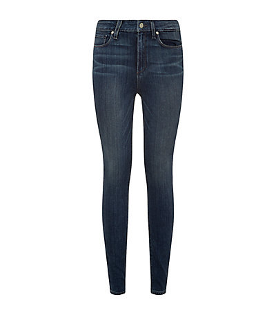 Hoxton Ultra Skinny Jeans - style: skinny leg; length: standard; pattern: plain; waist: high rise; pocket detail: traditional 5 pocket; predominant colour: denim; occasions: casual; fibres: cotton - stretch; jeans detail: whiskering, shading down centre of thigh; texture group: denim; pattern type: fabric; season: a/w 2014; wardrobe: basic