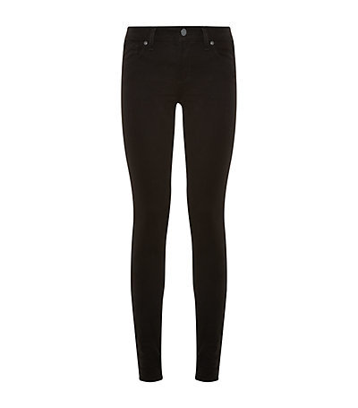 Verdugo Skinny Jeans - style: skinny leg; length: standard; pattern: plain; pocket detail: traditional 5 pocket; waist: mid/regular rise; predominant colour: black; occasions: casual, evening; fibres: cotton - stretch; texture group: denim; pattern type: fabric; season: a/w 2014