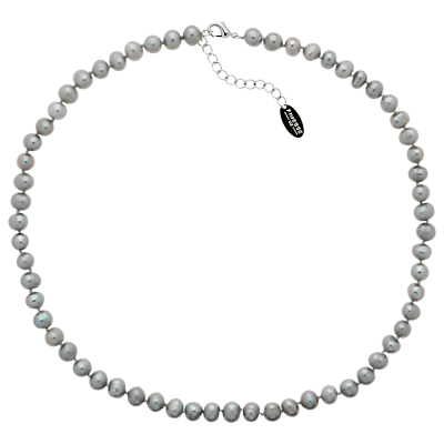 Freshwater Pearl Necklace - predominant colour: ivory/cream; occasions: evening, work, occasion; length: short; size: standard; material: chain/metal; finish: plain; embellishment: pearls; season: a/w 2014; style: bead