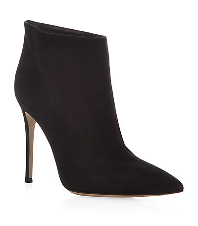Bara Bith Suede Ankle Boot - predominant colour: black; material: suede; heel: stiletto; toe: pointed toe; boot length: ankle boot; style: standard; finish: plain; pattern: plain; heel height: very high; occasions: creative work; season: a/w 2014; wardrobe: highlight