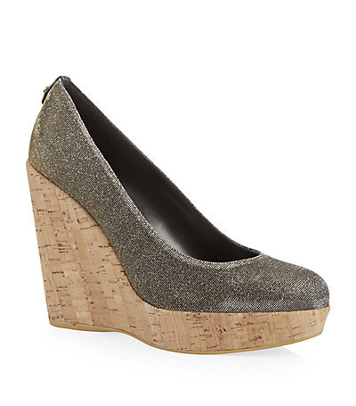 Corkswoon Metallic Wedge - predominant colour: chocolate brown; occasions: casual, creative work; material: leather; heel: wedge; toe: round toe; style: courts; finish: metallic; pattern: plain; heel height: very high; shoe detail: platform; season: a/w 2014; wardrobe: highlight