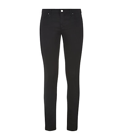 Power Stretch Low Skinny Jeans - style: skinny leg; pattern: plain; waist: low rise; pocket detail: traditional 5 pocket; predominant colour: black; occasions: casual; length: ankle length; fibres: cotton - stretch; texture group: denim; pattern type: fabric; season: a/w 2014; wardrobe: basic