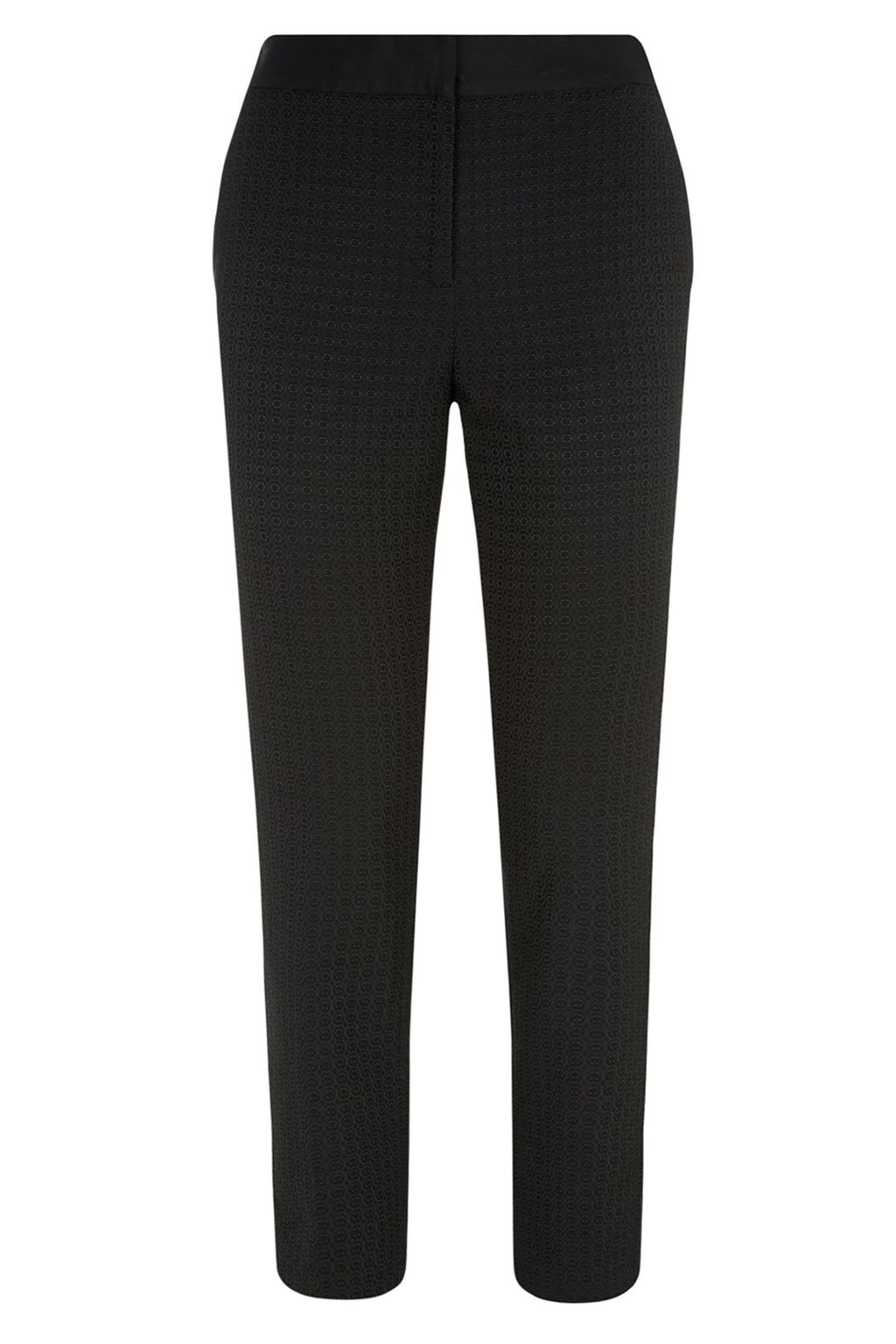 Jackie Trouser, Black - length: standard; pattern: plain; style: peg leg; waist: mid/regular rise; predominant colour: black; occasions: evening, work; fibres: polyester/polyamide - stretch; fit: straight leg; pattern type: fabric; texture group: woven light midweight; season: a/w 2014