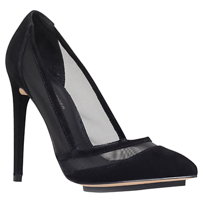Harlow Suede Court Shoes, Black - predominant colour: black; occasions: evening, occasion; material: suede; heel: stiletto; toe: pointed toe; style: courts; finish: plain; pattern: plain; heel height: very high; shoe detail: platform; season: a/w 2014; wardrobe: event