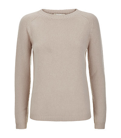 Giorgio Chunky Cashmere Sweater - pattern: plain; style: standard; predominant colour: stone; occasions: casual, creative work; length: standard; fit: slim fit; neckline: crew; fibres: cashmere - 100%; sleeve length: long sleeve; sleeve style: standard; texture group: knits/crochet; pattern type: knitted - fine stitch; season: a/w 2014; wardrobe: investment