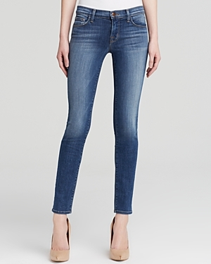 Jeans 811 Mid Rise Skinny In Imagine - style: skinny leg; pattern: plain; waist: low rise; pocket detail: traditional 5 pocket; predominant colour: denim; occasions: casual, evening; length: ankle length; fibres: cotton - stretch; jeans detail: whiskering, shading down centre of thigh; texture group: denim; pattern type: fabric; season: a/w 2014; wardrobe: basic