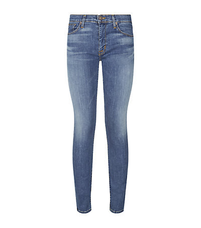 Krista Super Skinny Jeans - style: skinny leg; length: standard; pattern: plain; pocket detail: traditional 5 pocket; waist: mid/regular rise; predominant colour: denim; occasions: casual; fibres: cotton - stretch; jeans detail: whiskering, shading down centre of thigh; texture group: denim; pattern type: fabric; season: a/w 2014; wardrobe: basic