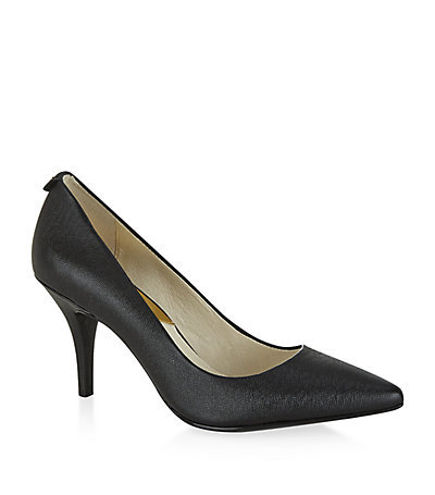 Flex Patent Pump - predominant colour: black; occasions: work, creative work; material: leather; heel height: high; heel: standard; toe: pointed toe; style: courts; finish: plain; pattern: plain; season: s/s 2015