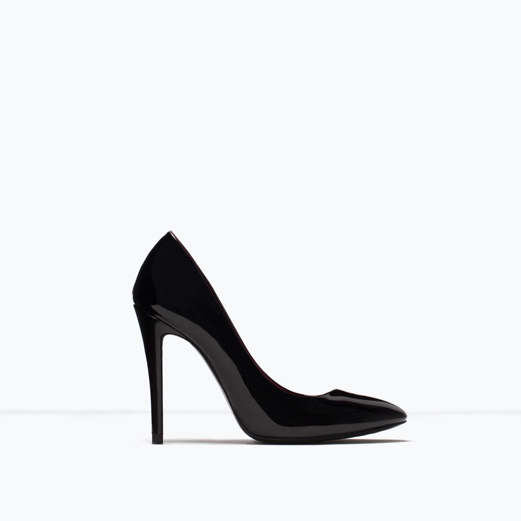 Patent Court Shoe - predominant colour: black; occasions: evening, work, occasion; material: faux leather; heel: stiletto; toe: pointed toe; style: courts; finish: plain; pattern: plain; heel height: very high; season: s/s 2015; wardrobe: highlight